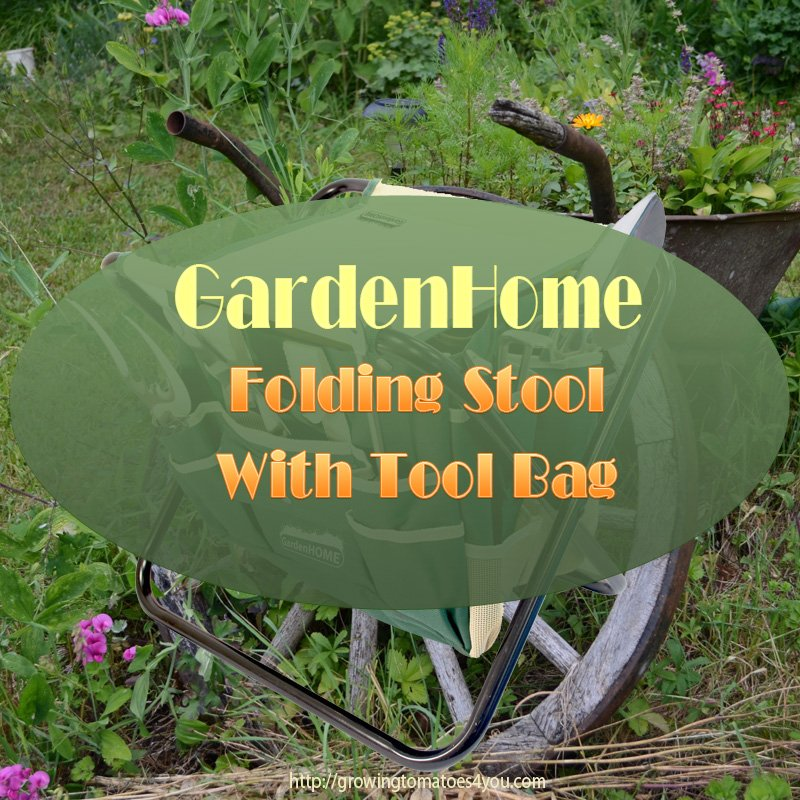 GardenHome Folding Stool With tool Bag
