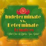 Indeterminate vs Determinate Tomatoes